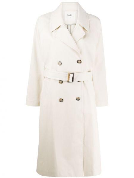 Długi płaszcz z kieszeniami z paskiem Ba&sh