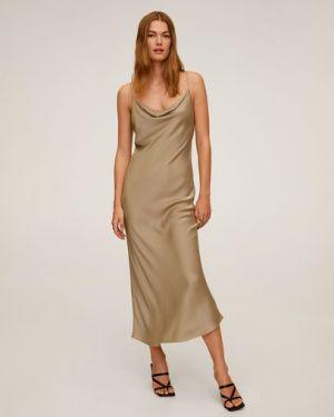 Облегающее платье прямое длинное Mango