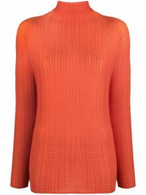 T-shirt z długimi rękawami - pomarańczowa Issey Miyake