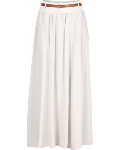 Ажурная бежевая юбка макси Bonprix
