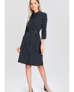 Платье с поясом классическое платье-рубашка Ostin