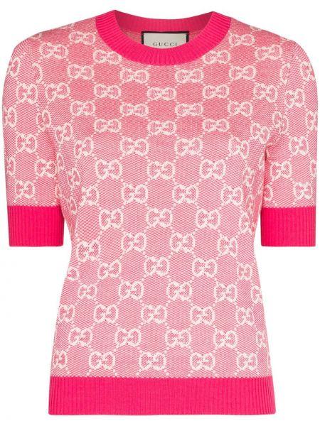 Top - różowa Gucci