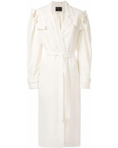 Белое пальто с капюшоном Mother Of Pearl