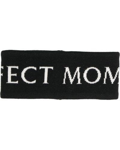 Шерстяная повязка на голову - черная Perfect Moment