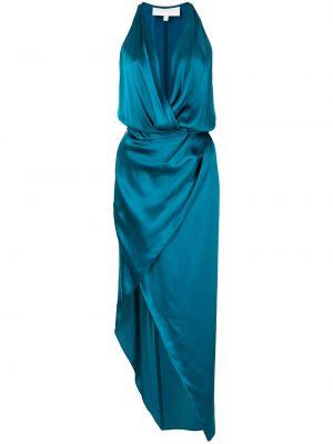 Платье с запахом - синее Michelle Mason
