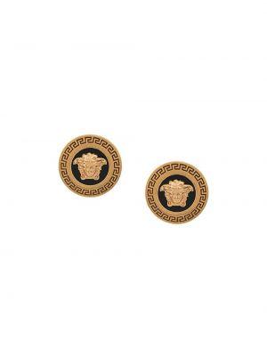 Szare złote kolczyki sztyfty Versace