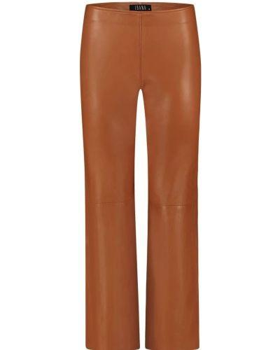 Brązowe spodnie Ibana