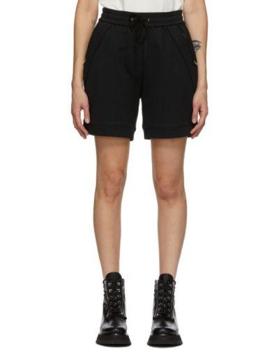 С кулиской махровые черные шорты с карманами 3.1 Phillip Lim