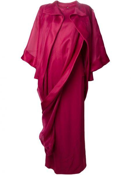 Прямое платье макси винтажное с оборками с воротником Givenchy Pre-owned