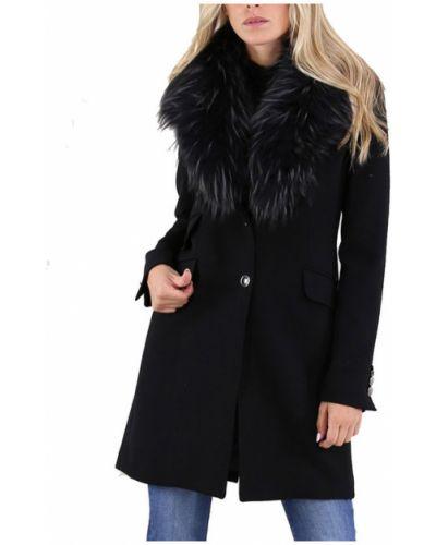 Czarny płaszcz Kocca