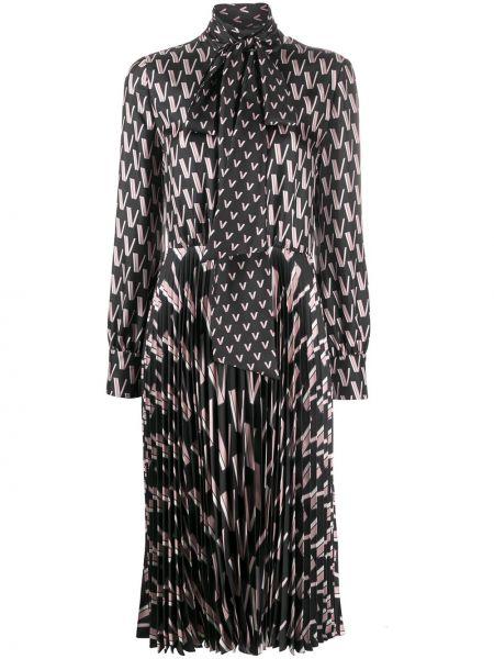 Облегающее платье плиссированное платье-рубашка Valentino