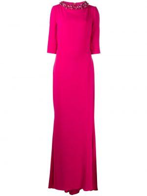 Różowa sukienka rozkloszowana Badgley Mischka