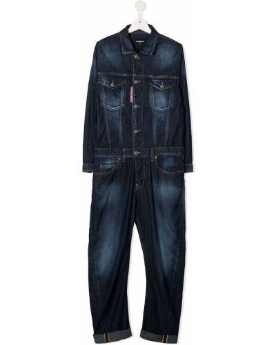 Bawełna prosto niebieski klasyczny dżinsowa kombinezon Dsquared2 Kids