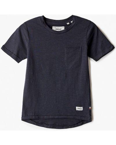 Синяя футболка с короткими рукавами Produkt