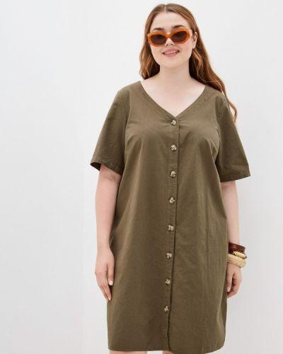 Платье рубашка хаки Zizzi