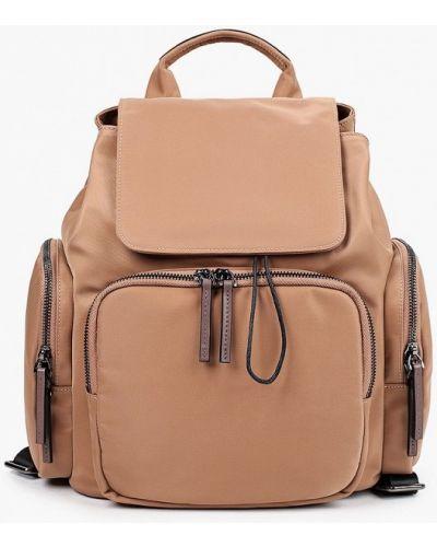 Городской текстильный бежевый рюкзак Ekonika