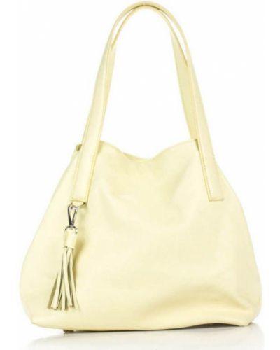 Кожаная сумка - желтая Amelie Pelletteria
