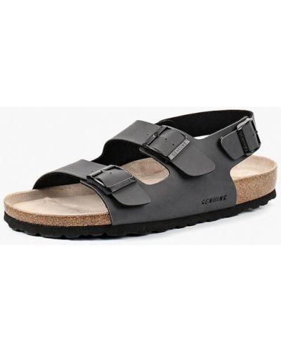 Серые кожаные сандалии Genuins