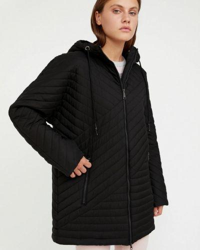 Свободная черная теплая куртка Finn Flare