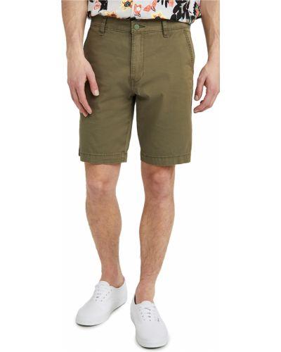 Зеленые хлопковые шорты-чиносы с карманами Levi's®