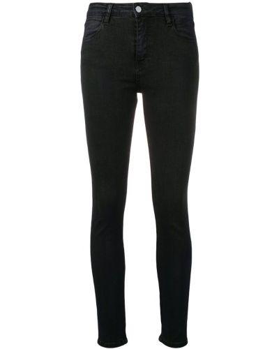 Черные джинсы-скинни на пуговицах с поясом с пайетками Brocken Bow