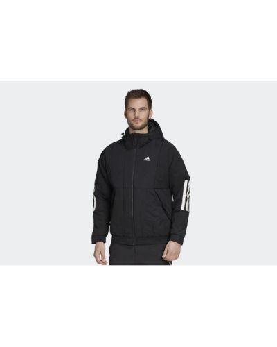 Ciepła czarna kurtka sportowa Adidas