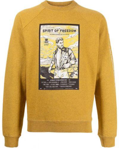 Żółta bluza długa z długimi rękawami bawełniana Phipps