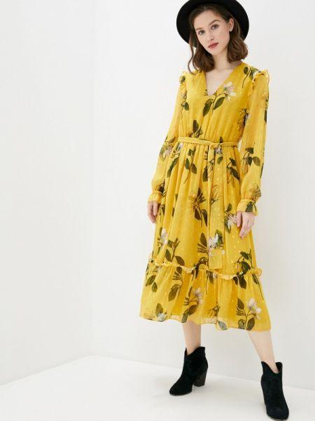 Повседневное платье весеннее желтый Ted Baker London