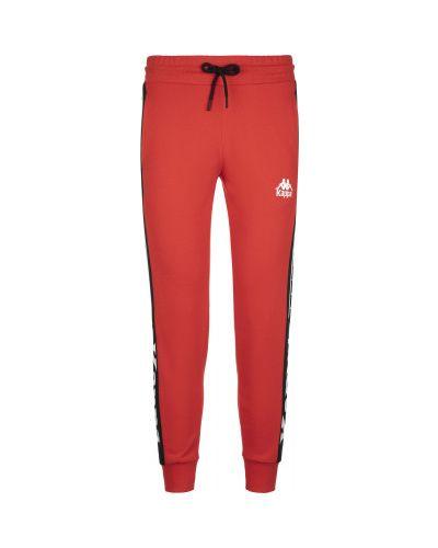 Прямые красные хлопковые спортивные брюки Kappa
