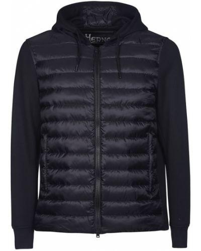 Czarna kurtka z nylonu Herno