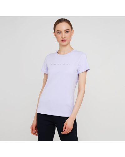 Прямая футболка с надписью с вырезом Anta
