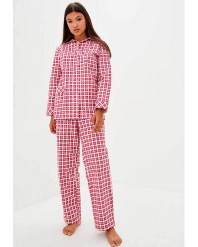 Фланелевая пижама с карманами в клетку на пуговицах Прованс