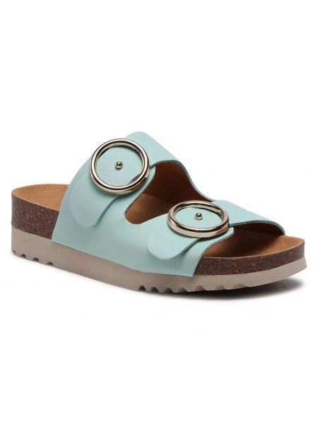 Zielone sandały skorzane Scholl