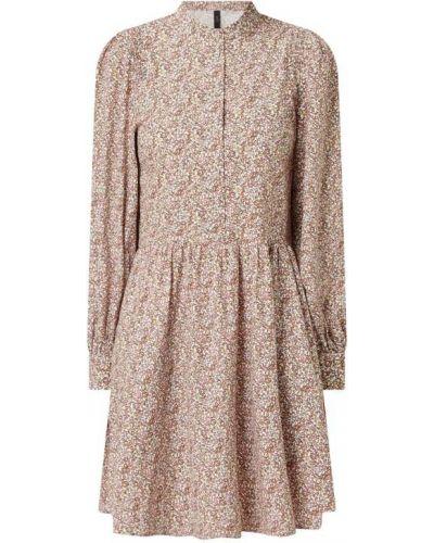 Różowa sukienka mini rozkloszowana bawełniana Y.a.s
