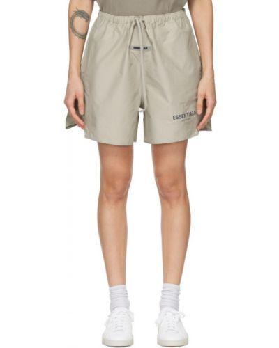 Бежевые шорты с карманами с манжетами Essentials