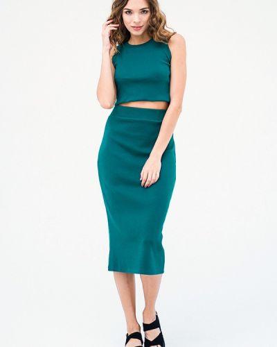 Повседневное платье весеннее зеленый Mascot