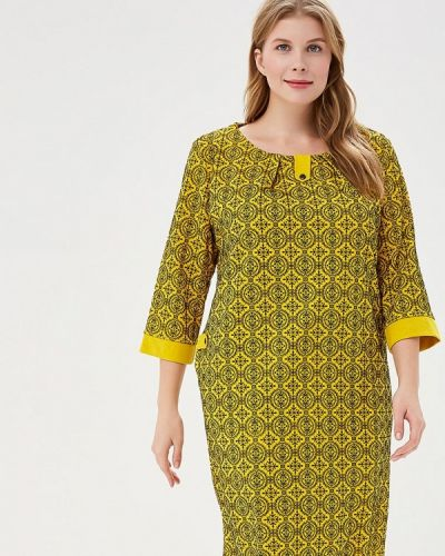 Платье осеннее желтый Prewoman