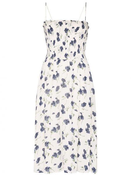 Платье миди с цветочным принтом из вискозы Reformation