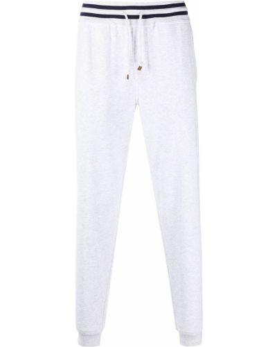 Biały dres bawełniany z printem Brunello Cucinelli