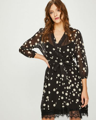Платье мини с запахом с длинными рукавами Answear
