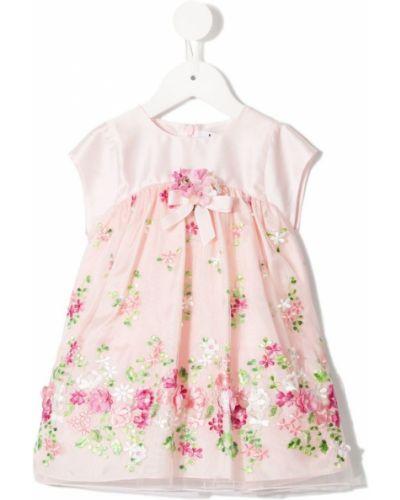 Платье с рукавами из фатина розовый Lesy