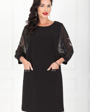 Шифоновое вечернее платье - черное Taiga
