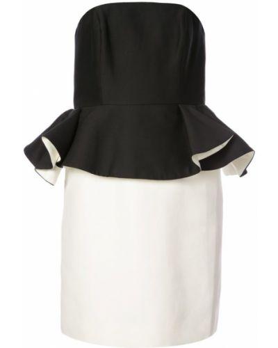 Платье с баской хлопковое Halston Heritage