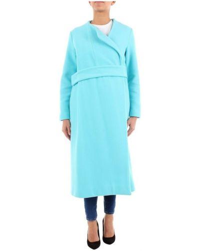 Niebieski długi płaszcz Maesta
