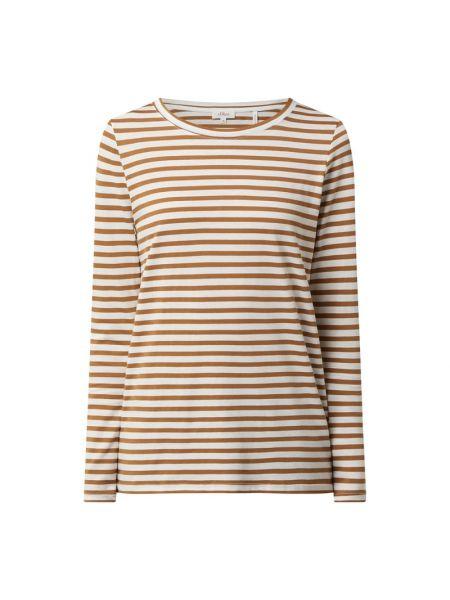 Bluzka w paski - brązowa S.oliver Red Label