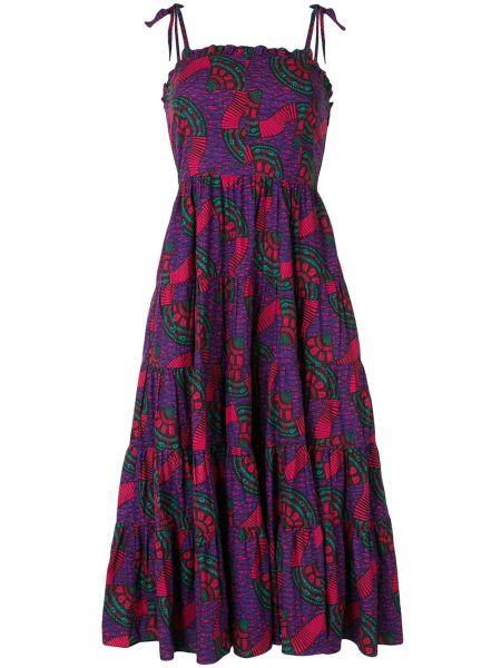 Платье миди розовое на бретелях Ulla Johnson