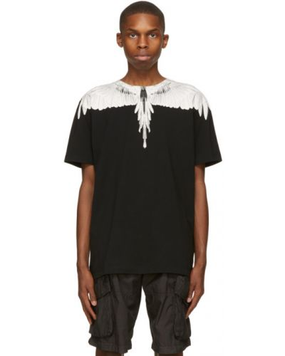 Bawełna z rękawami czarny koszula Marcelo Burlon County Of Milan