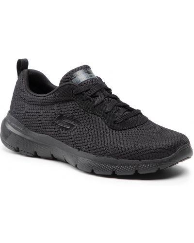 Buty sportowe bez obcasa - czarne Skechers