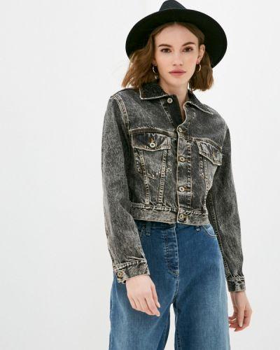 Черная джинсовая куртка Please