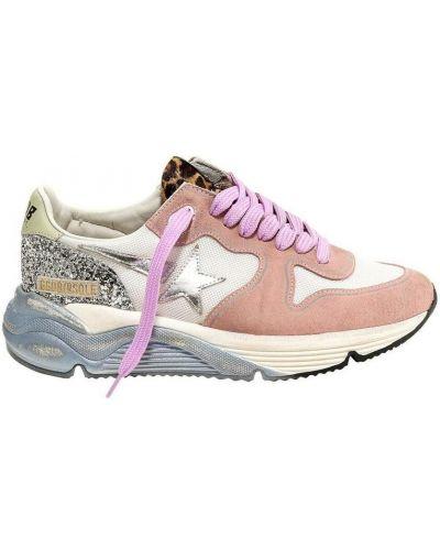 Różowe brokatowe sneakersy Golden Goose
